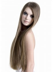 #10 Lysebrun, 60 cm, Double drawn Tape Extensions