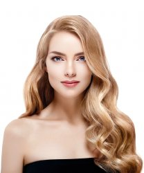 #18 Mellemblond, 50cm, Natural Wave Hot Fusion