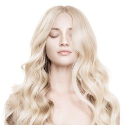 #6001 Ekstra lysblond, 60 cm, Clip-on Extensions