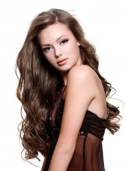 #8 Brun, 40 cm, Clip-on Extensions