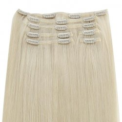 #6001 Ekstra lysblond, 70 cm, Clip-on Extensions