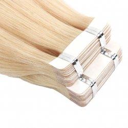#10 Lysebrun, 30 cm, Double drawn Tape Extensions